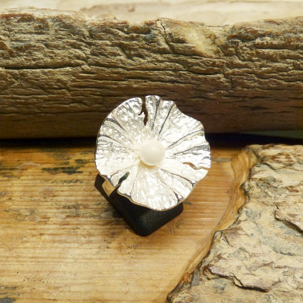 Silberring mit Mammutperle